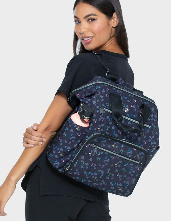 Bella Backpack Black All Awareness Ribbon OS