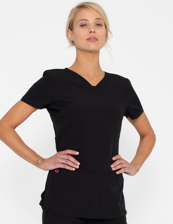 Shaped 25 1/2 inch V-Neck Top