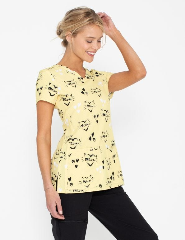 Meow Or Never V-Neck Top