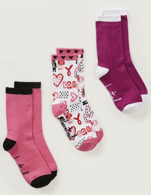 Love Is Magic Crew Socks