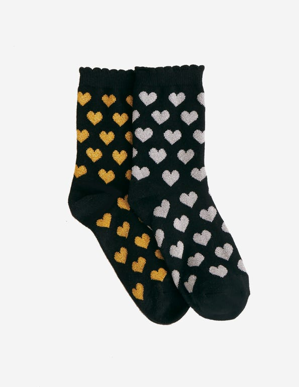 Glistening Gift Set 2 Pair Pack Crew Socks