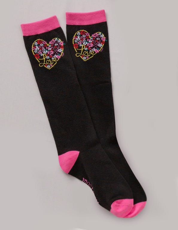 Floral My Heart Knee-High Socks