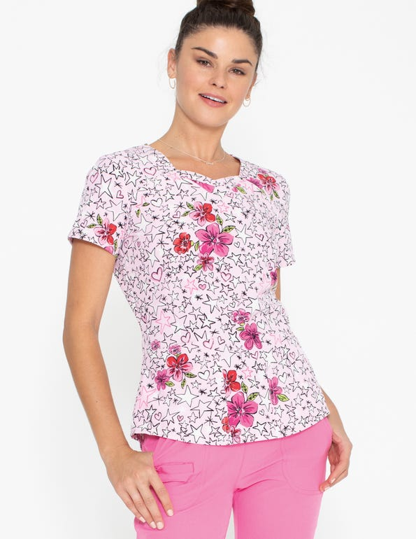 Reaching For The Stars Sweetheart Neck Top