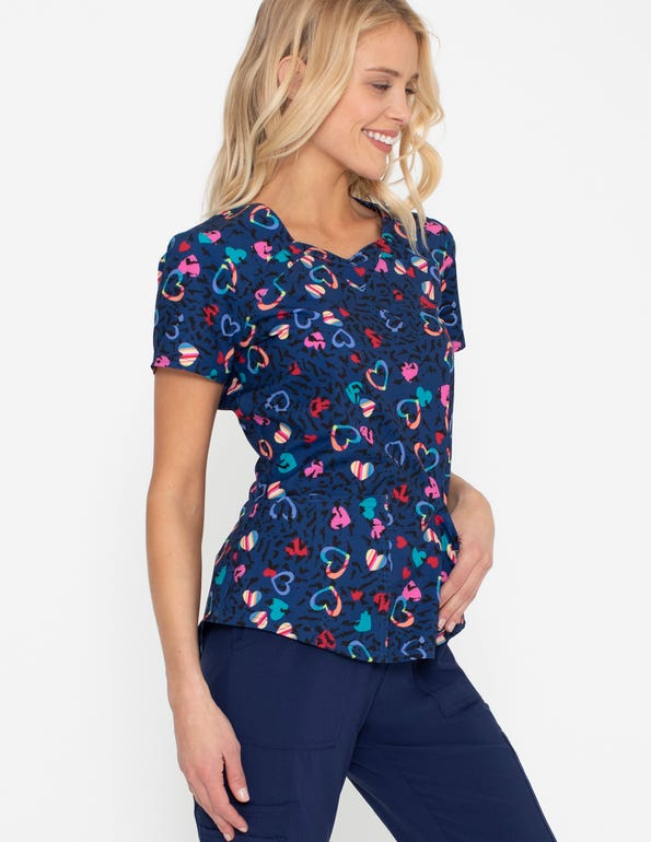 In Love With Leopard Sweetheart Neck Top