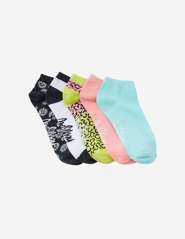 Color Me Wild No-Show Socks
