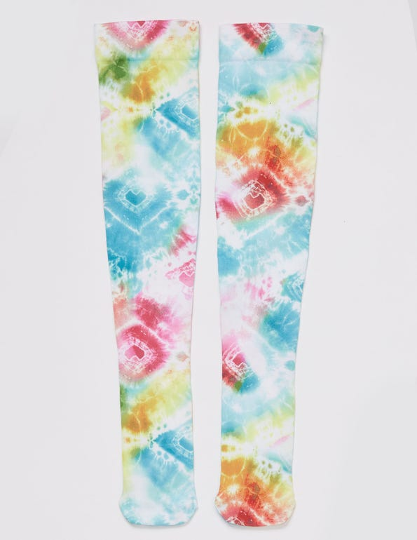 Dimensional Tie Dye Soul Support Knee-High Compression Socks